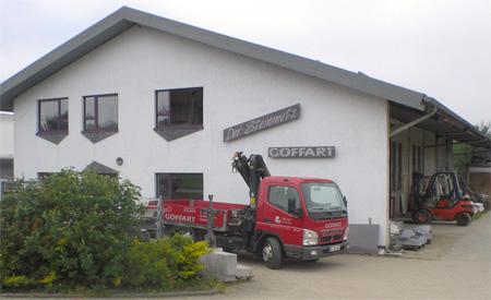 Produktionshalle & Materialpräsentation Hans-Georg-Weiss-Strasse 21